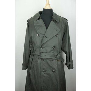 Burberry Green Removeable Liner Belted Mens Trench